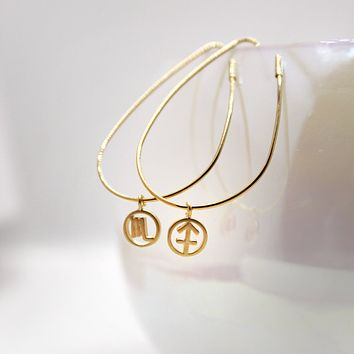 Zodiac Teardrop Earrings