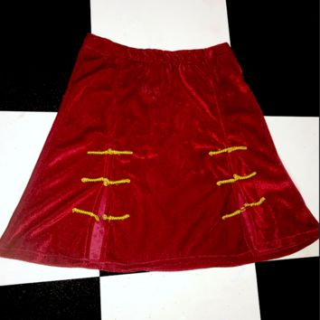 SWEET LORD O'MIGHTY! THE SINCITY SKIRT IN WINE