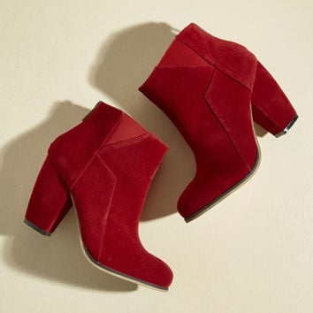 Sass the Way It Is Velvet Bootie | Mod Retro Vintage Boots | ModCloth.com