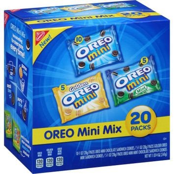 Nabisco Oreo Mini Mix Sandwich Cookies Variety Pack, 1 oz, 20 count - Walmart.com
