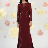 Long Formal Prom Dress Evening Gown Groom