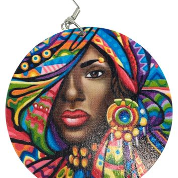 India Natural Hair Earrings | Colorful Afrocentric jewelry & Accessories