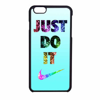 Nike Just Do It Cyan Bling iPhone 6 Case