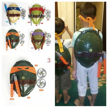 New TMNT Teenage Mutant Ninja Turtles Weapons Toys TMNT Turtles Armor Shell Toy Movie Toys Kids Brinquedos Birthday Gifts [8270460737]