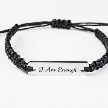 I Am Enough Stainless Steel Bracelet