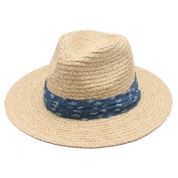 2017 Summer Hats For Men Straw Panama Beach Hats Women Natural Raffia Grass Travel Hat Sombrero Hombre Verano