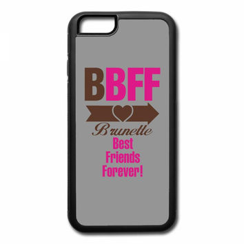 brunette best friends forever right arrow iPhone 7 Case