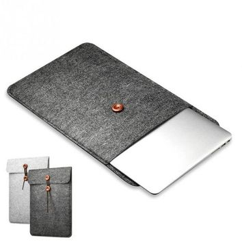 DCCKCO2 Protective Woolen Felt Cover Case Anti-shock Case Bag Cover for Macbook Air Pro 11 12 13 15 Inch Laptop