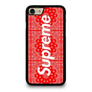 SUPREME BANDANA iPhone 4/4S 5/5S/SE 5C 6/6S 7 8 Plus X Case