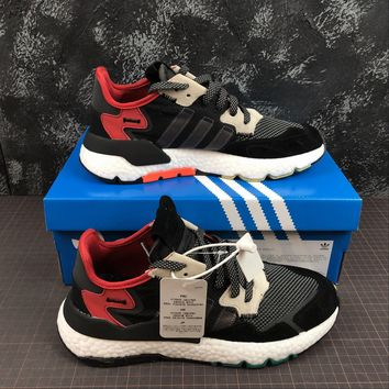 hcxx A1170 Adidas Nite Jogger 2019 3M Reflection Boost Running Shoes Black Red