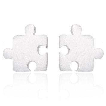 SMJEL Personalized Punk Tiny Game Puzzle Stud Earrings for Women Kids pendientes Jewelry Memorial Gift Best Friends  brincos
