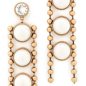 Ball Chain Imitation Pearl Earrings