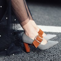 Chiko Krystine Chunky Heel Mary Jane Pumps