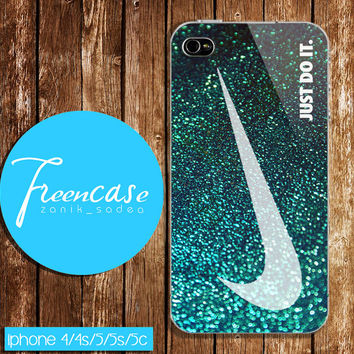 nike glitter case for iphone 4 case,iphone 4s case, iphone 5 case, iphone 5s case, iphone 5c case