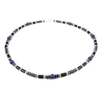 Mens Chakra Necklace Lapis Lazuli Crystal Healing Stones Energy Balancing Jewelry Meditation and Spiritual Harmoney MN15