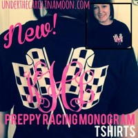 Under The Carolina Moon: Preppy Racing Monogram Shirt