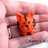 Baby CHUBBY TIGER Polymer Clay Animal Baby Chubby by KatersAcres