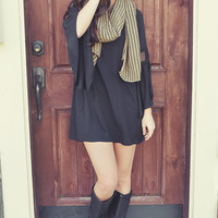 Shooting Stars Dress: Midnight Black