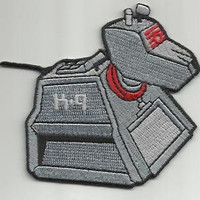 Dr. Who K-9 Patch 2.5 x 3 Inches at Widest Points