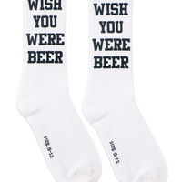WISH YOU WERE BEER SOCKS