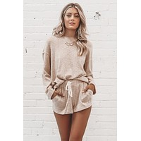 This Isn't Over Taupe Knit Sweater Top