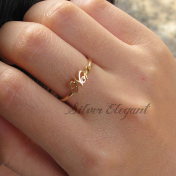 Handwriting Ring - Mother Day - Custom Name Ring  - 18K Gold Plated
