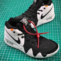 OFF White x Nike Kyrie 4 Basketball Shoes - Best Online Sale