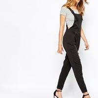 Vila Tailored Dungarees With Buckle Detail