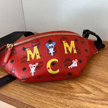 MCM new mouse print chest bag waist bag shoulder bag