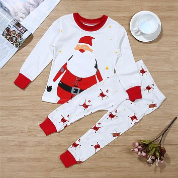 Christmas Matching Santa Pajama Set
