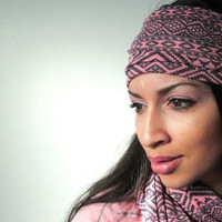Tribal Aztec Pink Gray  Infinite Scarf and head band set
