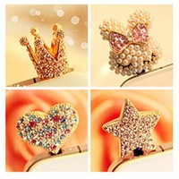 Shiny Rhinestone Antidust Plug For Iphone 4/4s/5 for one