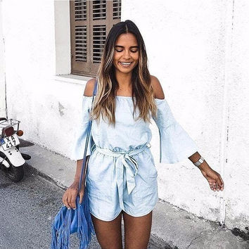 Baby Blue Leisure Playsuit