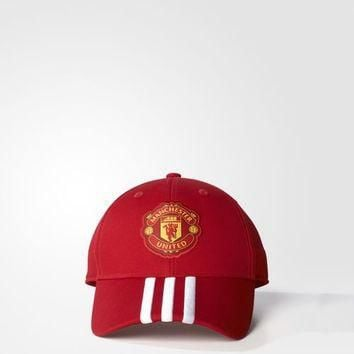adidas Manchester United FC 3-Stripes Hat - Red | adidas US