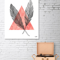 «Quills - Coral», Numbered Edition Aluminum Print by Heather Dutton - From $59 - Curioos