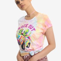 Lisa Frank Peace Out Tie Dye Girls T-Shirt