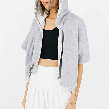 Truly Madly Deeply Cropped Parachute Cardigan- Grey