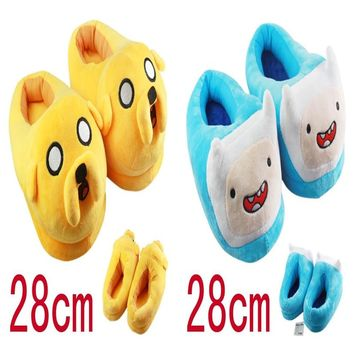 Adventure Time Jake Finn Stuffed Plush Shoes Plush Slippers Indoor Slippers Lovers Shoes Great Gift