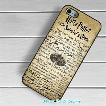 Harry Potter Sorcerer s Stone Quotes  cell phone case cover for iphone 4 4s 5 5s 5c SE 6 6s & 6 plus 6s plus 7 7 plus &ss12