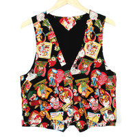 Vintage Valentines DIY Handmade Tacky Ugly Fabric Vest