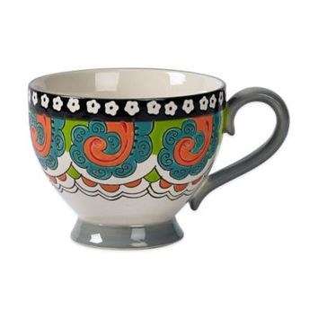 Tabletops Unlimited® Gallery Phoebe Footed Mug in Grey