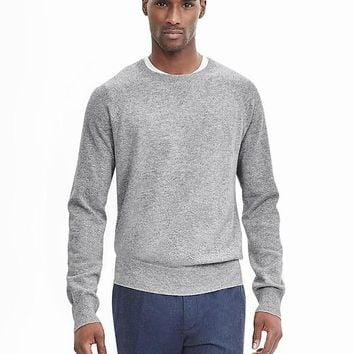 Banana Republic Mens Todd & Duncan Cashmere Baseball Sweater Pullover