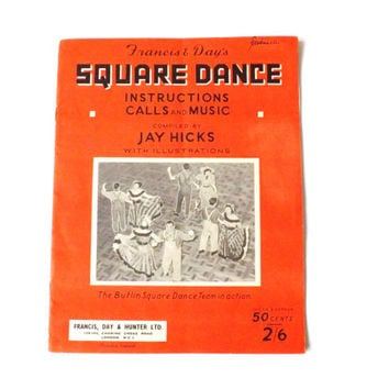 1950s Square Dance Instructions Calls and Music Booklet, Country Dancing, Sheet Music Arkansas Traveller, Turkey in the Straw, Butlins