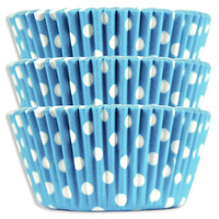 Light Blue Polka Dot Baking Cups