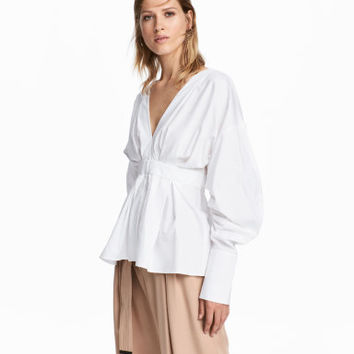 H&M V-neck Cotton Blouse $49.99