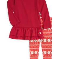 Burt's Bees Baby Thermal Dress & Print Leggings Set (Toddler Girls & Little Girls) | Nordstrom
