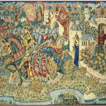 Legend of King Arthur French Tapestry