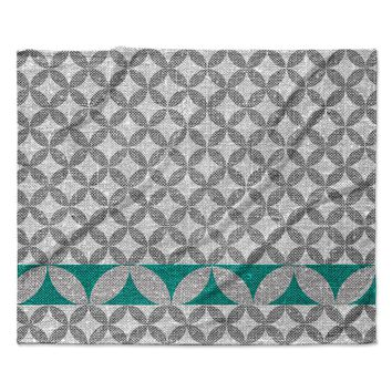 "Nick Atkinson ""Diamond Turquoise""  Fleece Throw Blanket"
