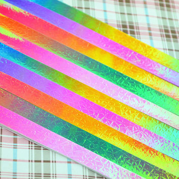 Folding Origami Paper / Lucky Star Assorted / Favour Strips Colors Mixed /Shiny Aurora 80 Stripes