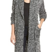 coin 1804 Cozy Chunky Long Hooded Cardigan | Nordstrom